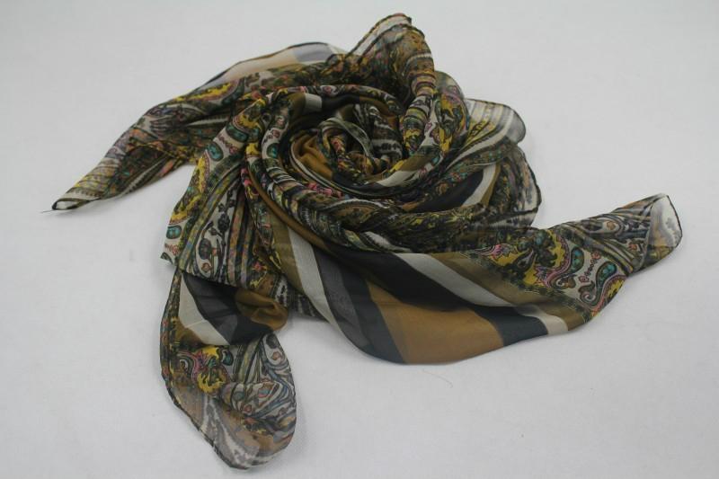 巴里紗油畫色彩系時尚熱賣圍巾 1