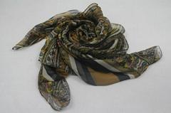 巴里纱油画色彩系时尚热卖围巾