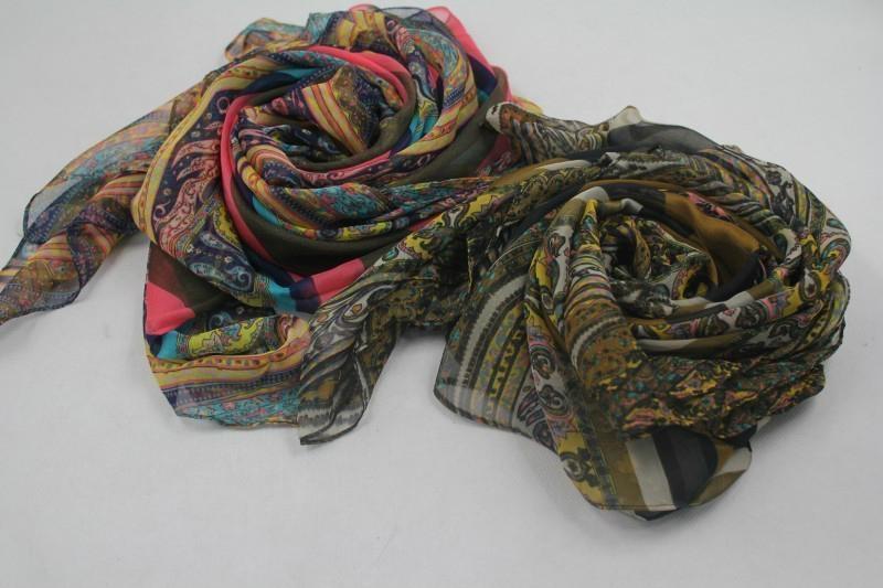 巴里纱油画色彩系时尚热卖围巾 2
