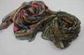 巴里紗油畫色彩系時尚熱賣圍巾 2