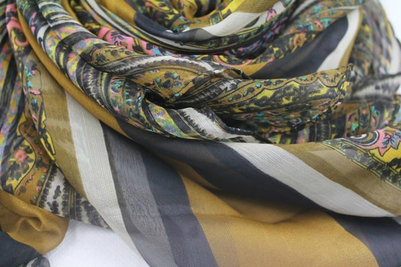 巴里紗油畫色彩系時尚熱賣圍巾 3