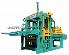 中国名牌砖机建丰JF-QT1500D液压免烧空心砖机