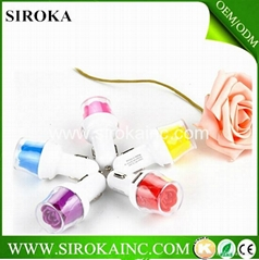2015 newest  flower  car charger 5V1A micro usb car charger for smartphone