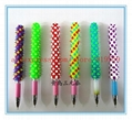 silicone rubber spike rainbow ball point pen 3