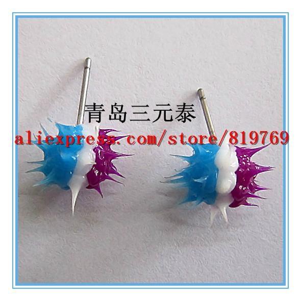 silicone spike rainbow earrings hot sale earrings 1