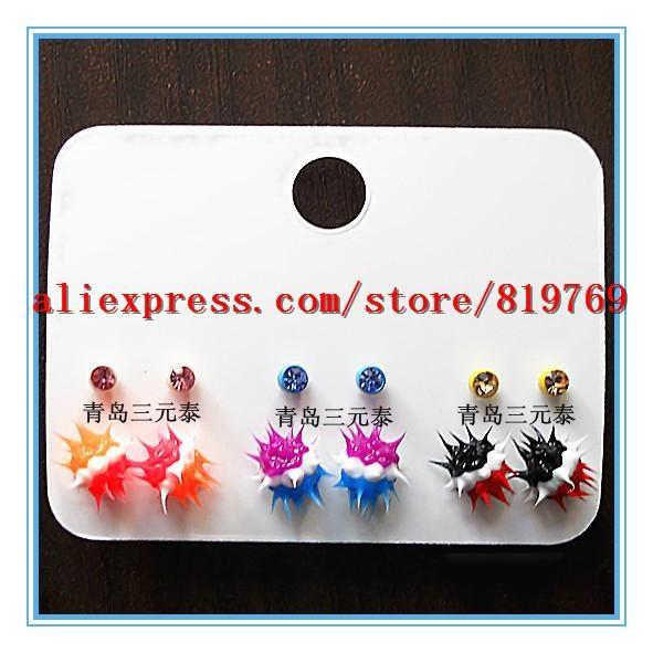 silicone spike rainbow earrings hot sale earrings 3