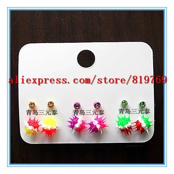 silicone spike rainbow earrings hot sale earrings 4