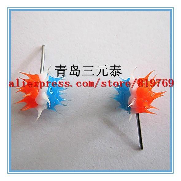 silicone spike rainbow earrings hot sale earrings 5