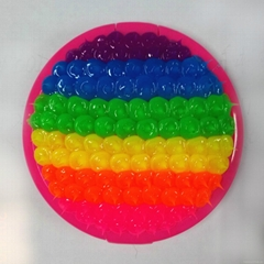 silicone spike rainbow Small circular mirror silicone spike Cosmetic mirror