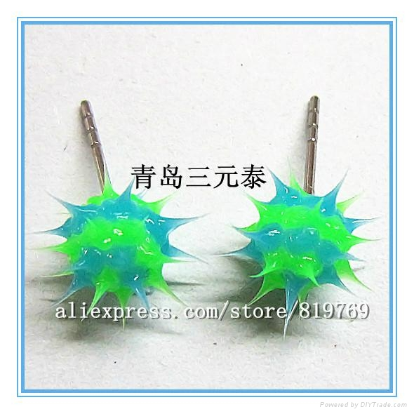 silicone spike beaded bracelet rainbow bracelet 1