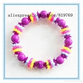 silicone spike beaded bracelet rainbow