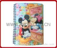 Hot Sale 3D lenticular diary notebook