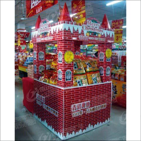 佛山超市堆頭及包柱製作 1