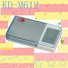 Digital mini pocket scale with large blue LCD (KD-M612)