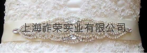 婚纱腰带 新娘水钻腰封 1