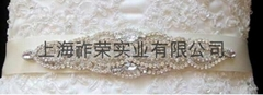 handmade beaded wedding belt crystal sash