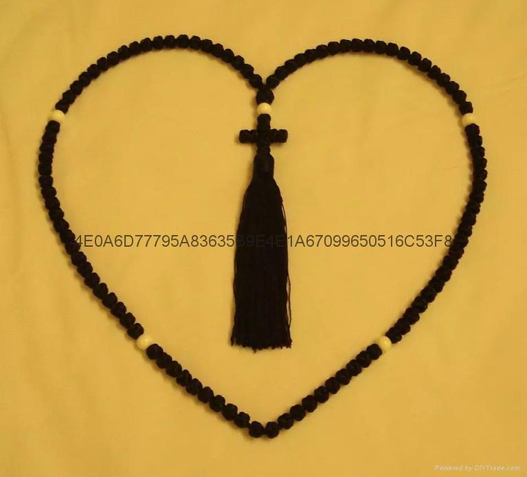 廠家直銷禱告繩結 打結編織手鏈 蠟繩編織祈禱繩  1
