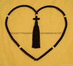 厂家直销祷告绳结 打结编织手链 蜡绳编织祈祷绳