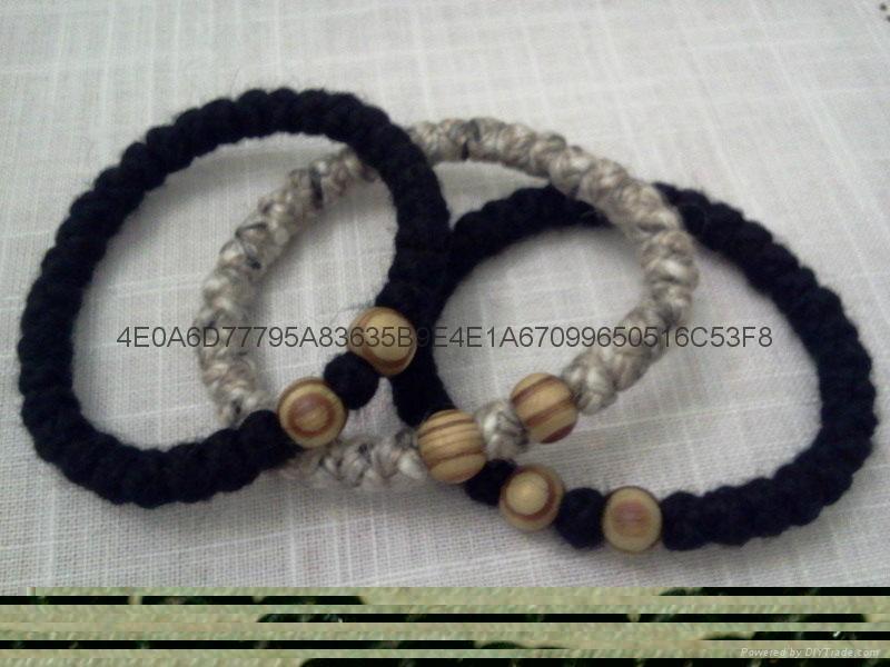 廠家直銷禱告繩結 打結編織手鏈 蠟繩編織祈禱繩  2