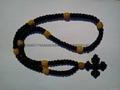 廠家直銷禱告繩結 打結編織手鏈 蠟繩編織祈禱繩  4