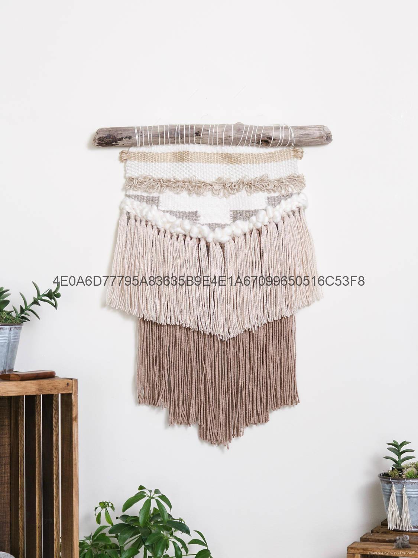 編織挂毯 手工羊毛牆挂 波西米亞壁挂 1