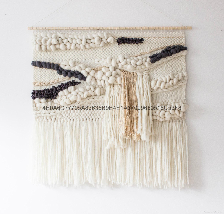編織挂毯 手工羊毛牆挂 波西米亞壁挂 2
