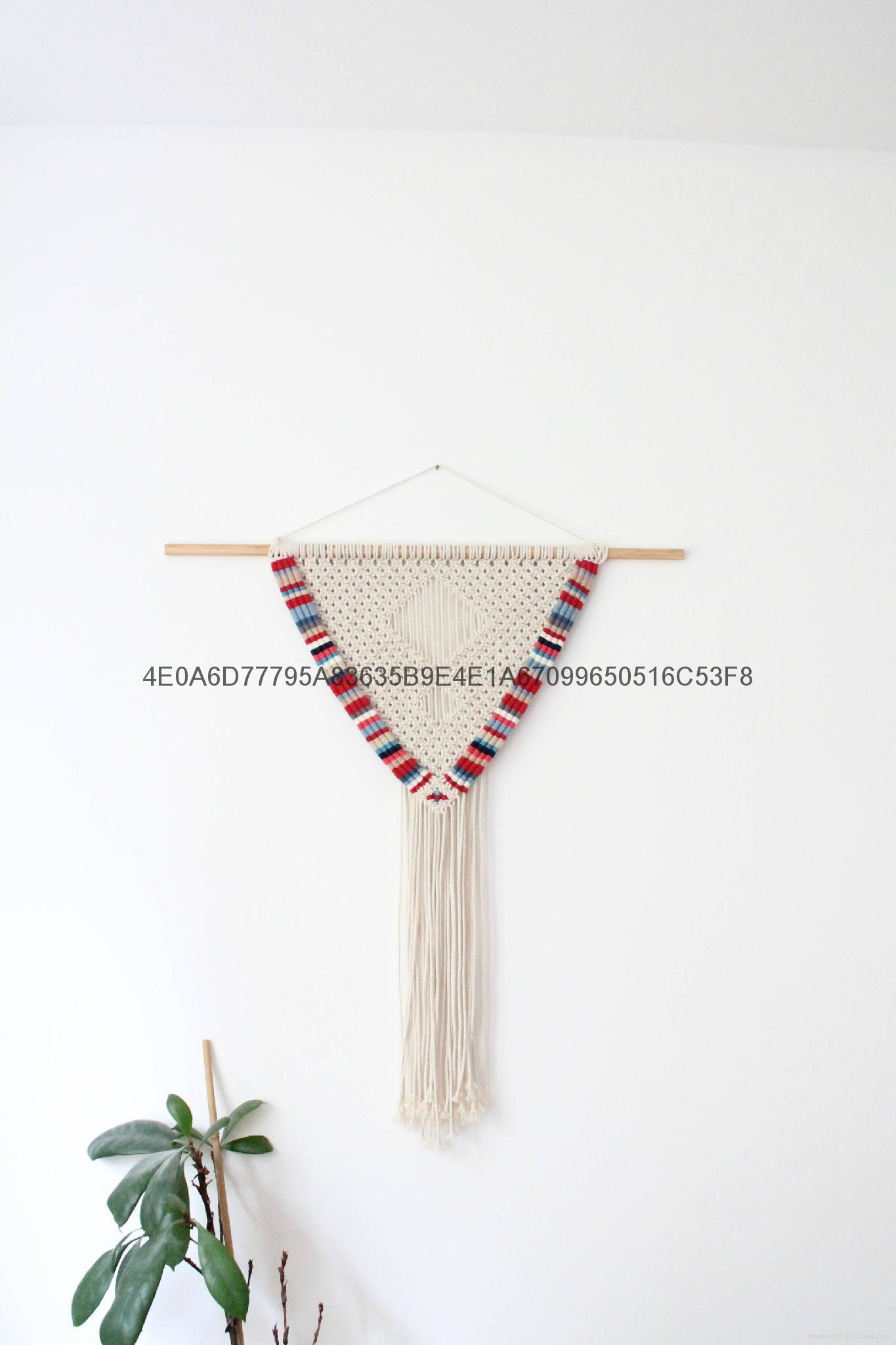編織挂毯 手工羊毛牆挂 波西米亞壁挂 5