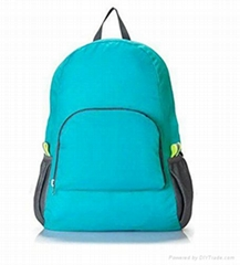 Travel Promotional Foldable Backpack Blue