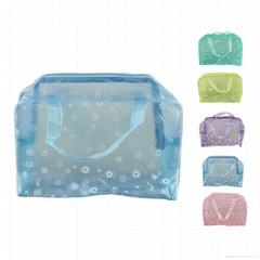 印花透明PVC化妝包