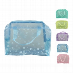 Floral Clear PVC cosmetic bag