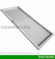 Plastic Frame Glass Door for Beverage