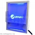 Freezer glass door with LED lights