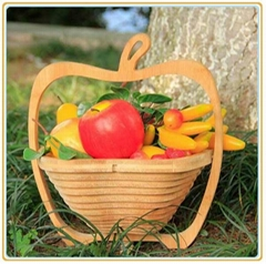 Hot Sale Apple Shape Bamboo Fruit Basket -BK006