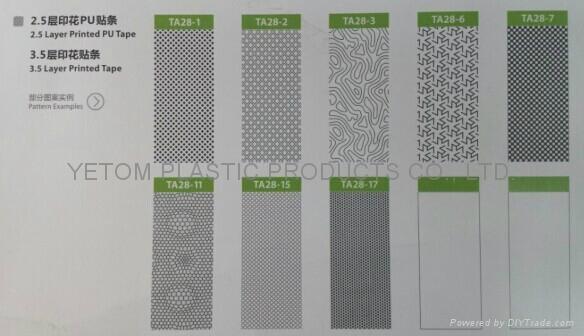 composite pure PU printed waterproof seam sealing tape for printed garments spor 2