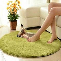 Microfiber Chenille Circular Flooring Mat Door Carpet