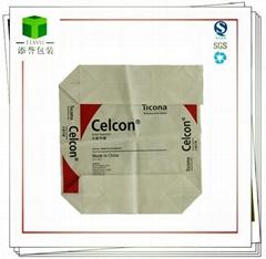 High Strength Pasted Bottom Mortar Sack Kraft Paper Bag