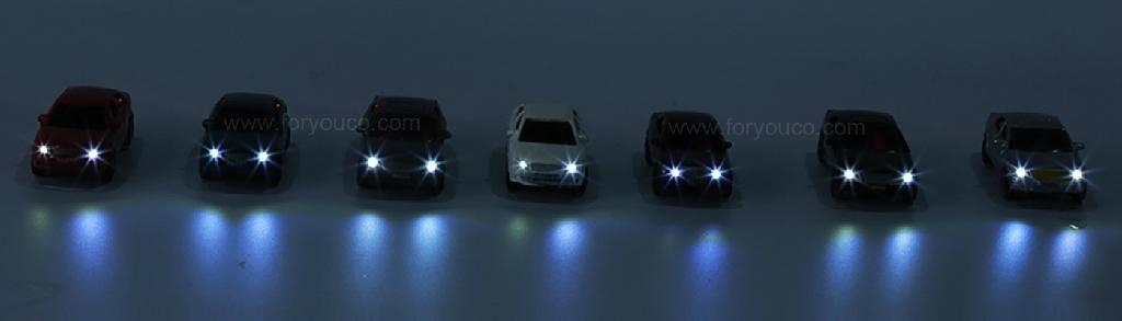 architectural model makers platic mold mini cars LED lighting cheaper version 1