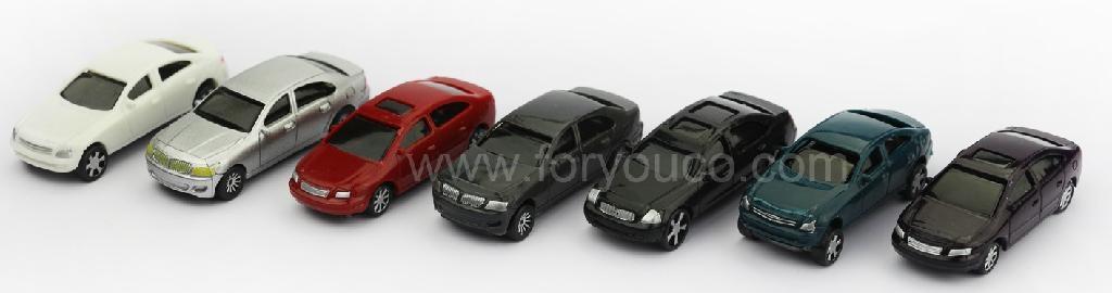 architectural model makers platic mold mini cars LED lighting cheaper version 2