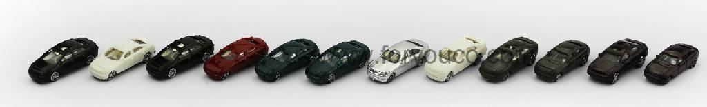 Architectural model manufacturer 1:200 mini colorful car nice handcrafts 1