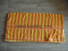 yellow and white strip jacquard beach towel wholesale