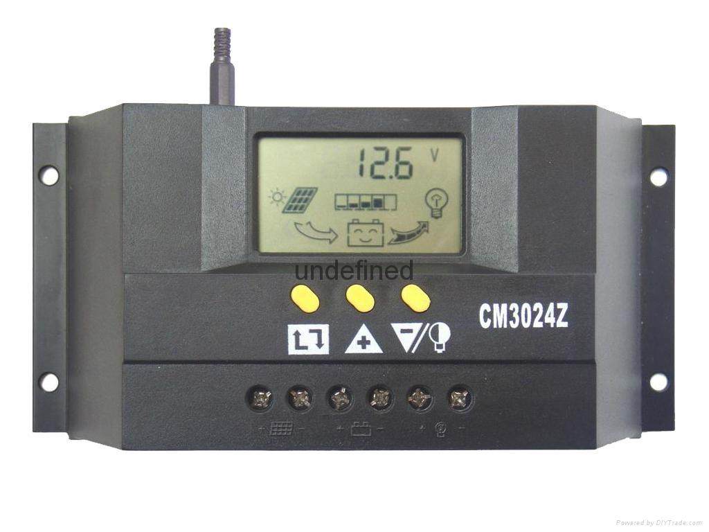 太阳能控制器48V30A双路输出数显自动识别光控定时USB充电 1