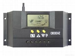 太阳能控制器48V30A双路输出数显自动识别光控定时USB充