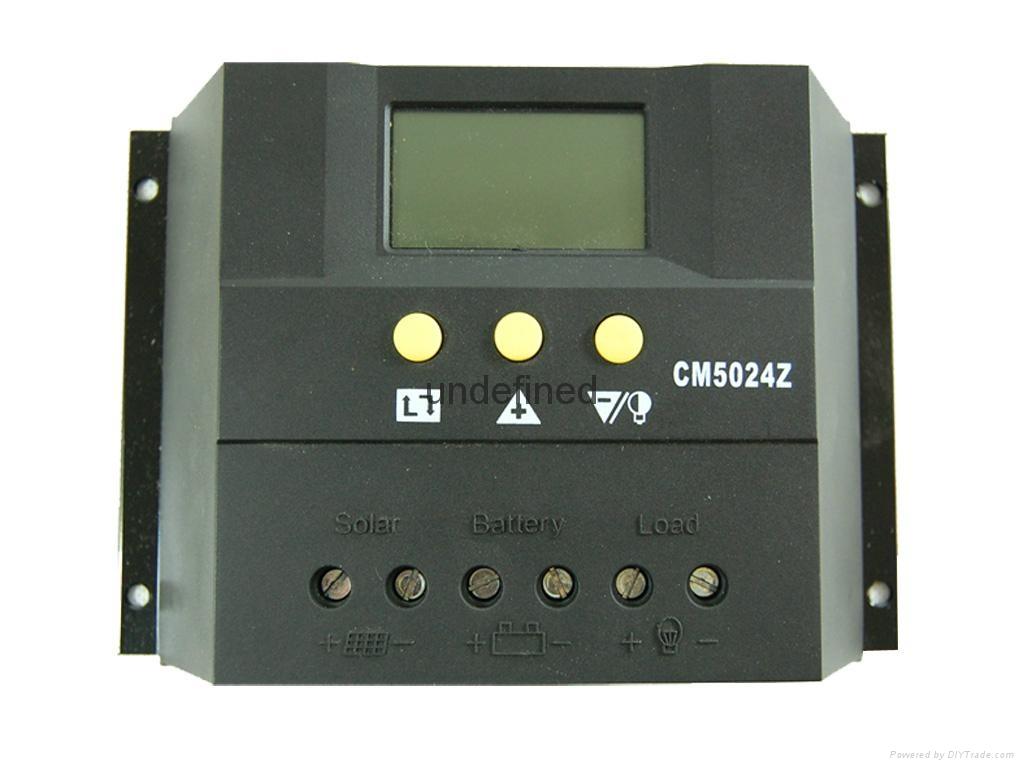 太阳能控制器48V30A双路输出数显自动识别光控定时USB充电 3