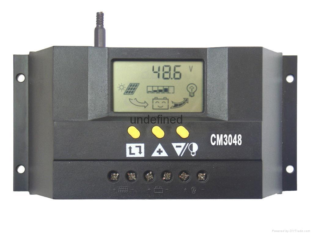 太阳能控制器48V30A双路输出数显自动识别光控定时USB充电 4