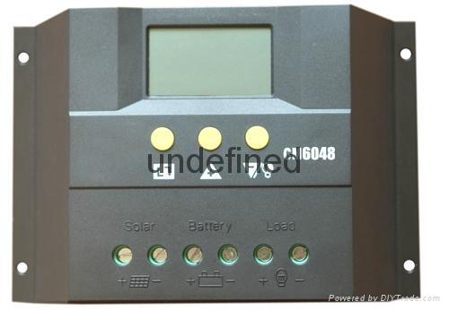 太阳能控制器LCD显示CM6024-60A-12V24V家用太阳能充电控制器 1