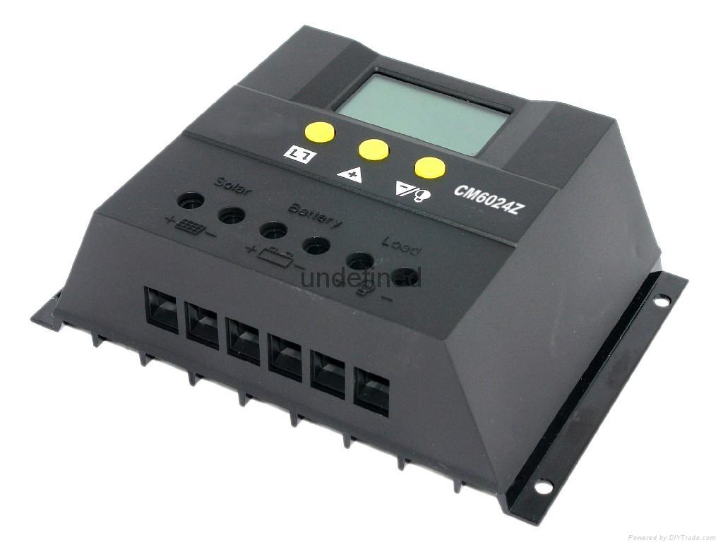 太阳能控制器LCD显示CM6024-60A-12V24V家用太阳能充电控制器 4