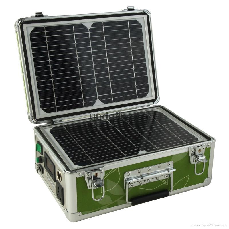20W便携式太阳能发电小系统 5