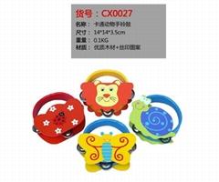 卡通動物手搖鈴鼓(貨號:CX0027)