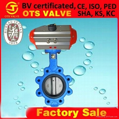 Wafer rubber seat butterfly valve