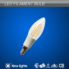 2W 4W Candle Filament Led Bulb with E12 E14